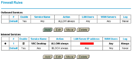 Router configuration  :: Router configuration  :: Add the new TCP/UDP ports to the  exception list